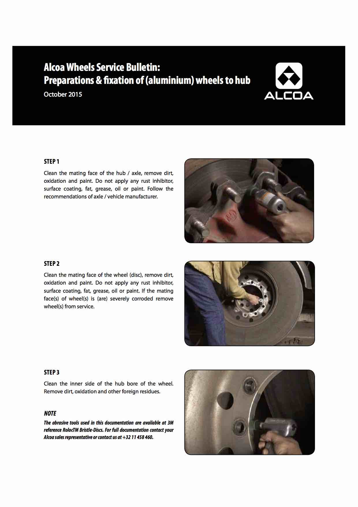 Alcoa® Wheels Preparations and Fixation of wheel to hub
