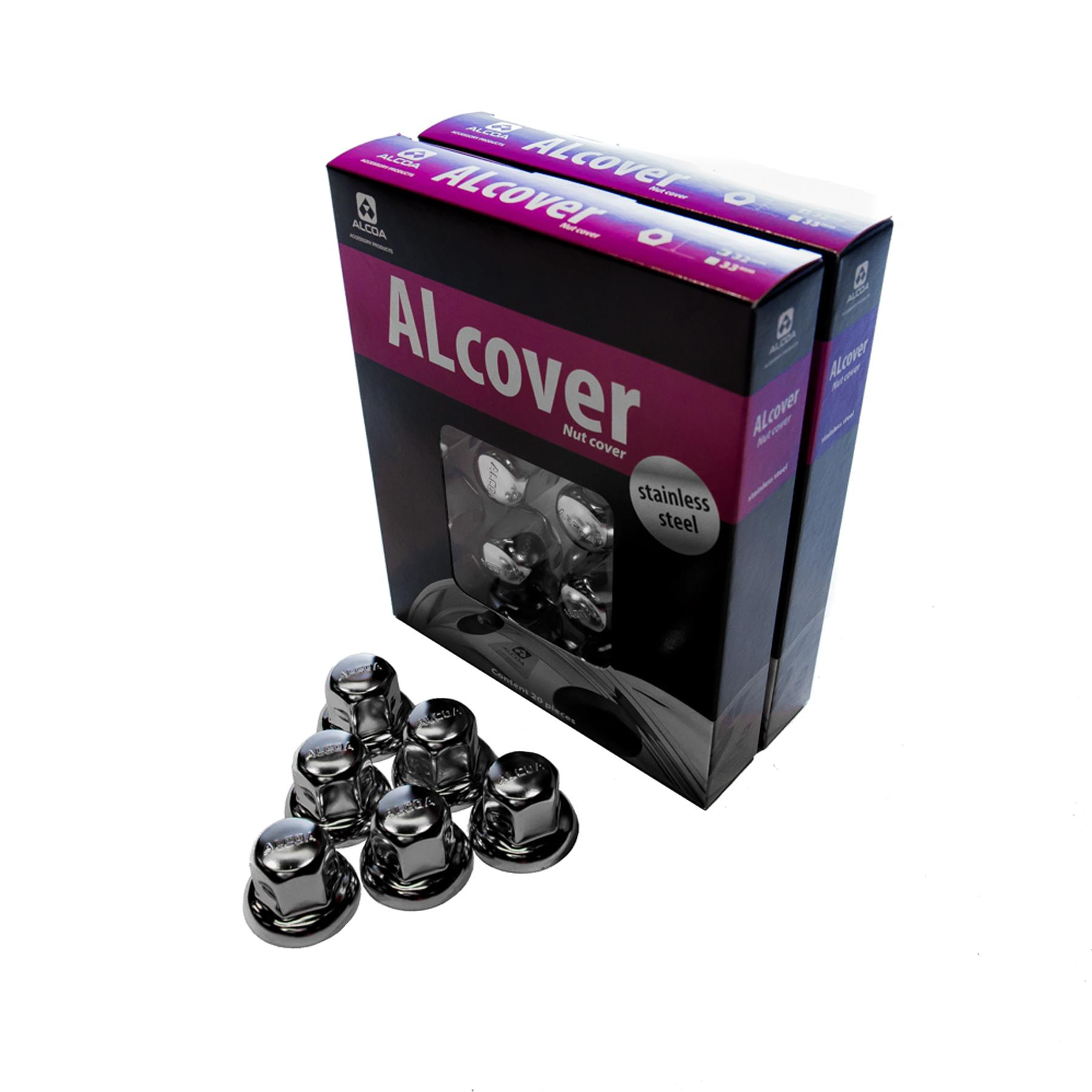 S/less Steel Nut Cover 33mm Pack 20pcs